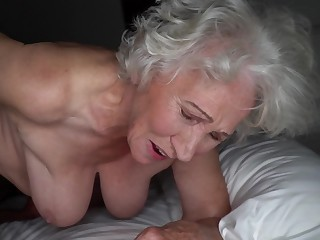 Grey-haired cunt of fat granny gets pounded by young trestle