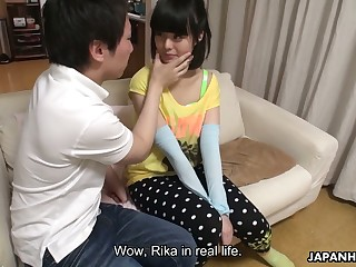 This Japanese sweeping loves having her pussy toyed increased by she is hella cute