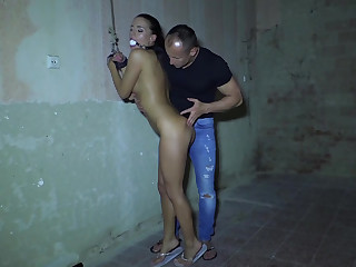 Shafting ball-gagged coupled with likely about Czech babe