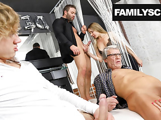 Family visits a Swingers Fustigate for the First Time