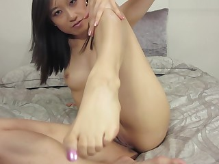 Asian Girl Watches Roommate Jerk Off In The Bathro